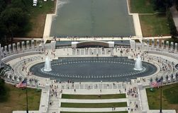 Vue aérienne de mémorial de WWII Photographie stock libre de droits