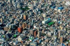 Vue aérienne de métropole Photo libre de droits