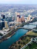 Vue aérienne de Madame Bird Lake et Austin Texas Images stock