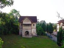 Vue aérienne de maison abandonnée dans Seremban Malaisie banque de vidéos