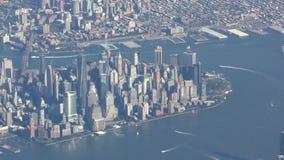 Vue aérienne de Manhattan clips vidéos