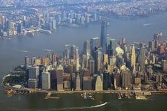 Vue aérienne de Manhattan Images libres de droits