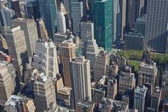 Vue aérienne de Manhattan avec le stationnement de Bryant Photo libre de droits