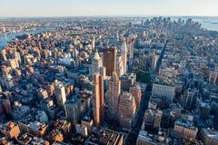Vue aérienne de Manhattan du sud, New York City photo libre de droits