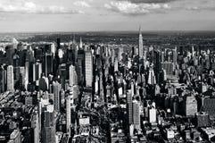 Vue aérienne de Manhattan New York City Photos libres de droits