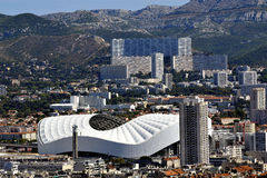 Vue aérienne de Marseille aux secteurs du nord image stock