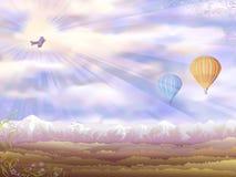 Vue aérienne de matin d'automne Photographie stock libre de droits