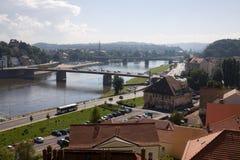 Vue aérienne de Meissen en Allemagne Photographie stock