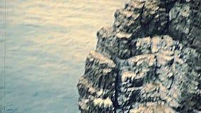 Vue aérienne de mer de Saint Malo banque de vidéos