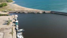 Vue aérienne de mer - scène de nature banque de vidéos