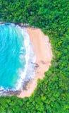 Vue aérienne de mer, vue supérieure, fond étonnant de nature La couleur de Image libre de droits