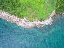 Vue aérienne de mer, vue supérieure, fond étonnant de nature La couleur de Photographie stock