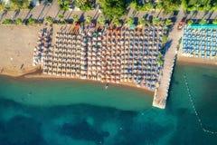 Vue aérienne de mer transparente de turquoise Images libres de droits