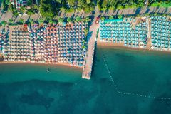 Vue aérienne de mer transparente de turquoise Photo stock