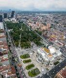 Vue aérienne de Mexico et du palais des beaux-arts Palacio de Bellas Artes - Mexico, Mexique images libres de droits