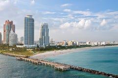 Vue aérienne de Miami Beach Images libres de droits