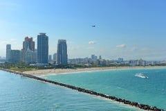 Vue aérienne de Miami Beach du sud Photo libre de droits
