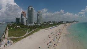 Vue aérienne de Miami Beach, la Floride banque de vidéos