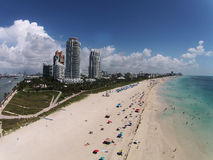 Vue aérienne de Miami Beach, la Floride Photo stock
