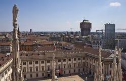 Vue aérienne de Milan Images stock