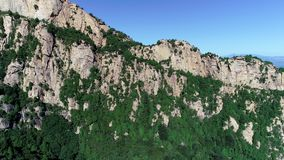 Vue aérienne de montagne maximale verte banque de vidéos