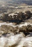 Vue aérienne de montagnes photographie stock libre de droits