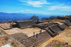 Vue aérienne de Monte Alban Ruins, Oaxaca, Mexique Image stock