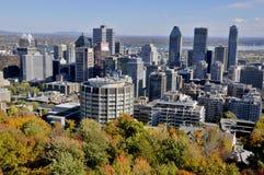 Vue aérienne de Montréal du centre Photos libres de droits