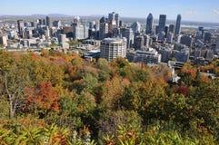 Vue aérienne de Montréal du centre Photographie stock