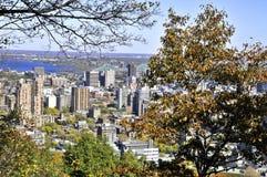 Vue aérienne de Montréal du centre Photo libre de droits