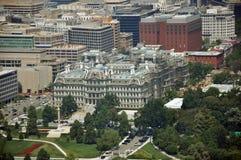 Vue aérienne de monument de Washington Photographie stock libre de droits