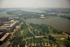 Vue aérienne de monument de Washington Images stock