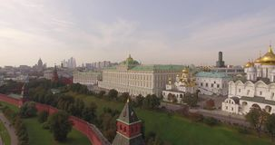 Vue aérienne de Moscou Kremlin clips vidéos