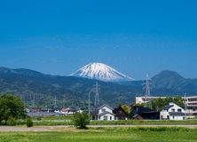 Vue aérienne de mt fuji Photographie stock libre de droits