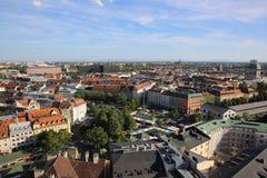 Vue aérienne de Munich Photos stock