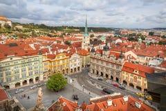 Vue aérienne de namesti de Malostranske à Prague, Czechia Image libre de droits