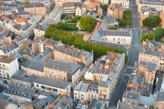 Vue aérienne de Nantes Photos libres de droits