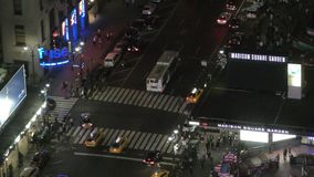 Vue aérienne de New York City banque de vidéos