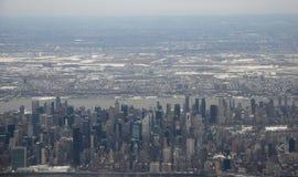 Vue aérienne de New York City - de Manhattan Photos stock