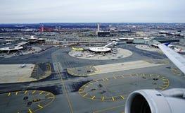 Vue aérienne de Newark Liberty International Airport Photo stock