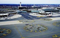 Vue aérienne de Newark Liberty International Airport Image libre de droits