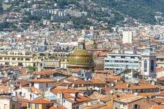 Vue aérienne de Nice Image stock