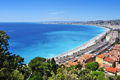 Vue aérienne de Nice, France Photographie stock