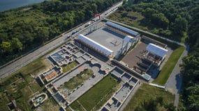 Vue aérienne de Nove, Svishtov, Bulgarie, juillet 2017 images libres de droits