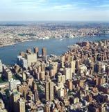 Vue aérienne de NYC Photos stock