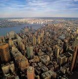 Vue aérienne de NYC Images libres de droits