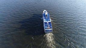 Vue aérienne de PA du fleuve Delaware Philadelphie de paquebot banque de vidéos