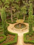 Vue aérienne de parc à Alhambra photographie stock libre de droits