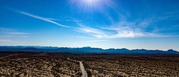 Vue aérienne de parc régional de McDowell près de Phoenix, Arizona photographie stock libre de droits