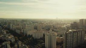 Vue aérienne de Paris, vue à l'est du ` Italie, France de l'endroit d Établissement du tir banque de vidéos
